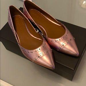 Beautiful pink New flat shoes...flash sale